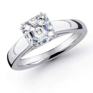 Jewelry - 1.5 carats Prong set Asscher cut diamond wedding